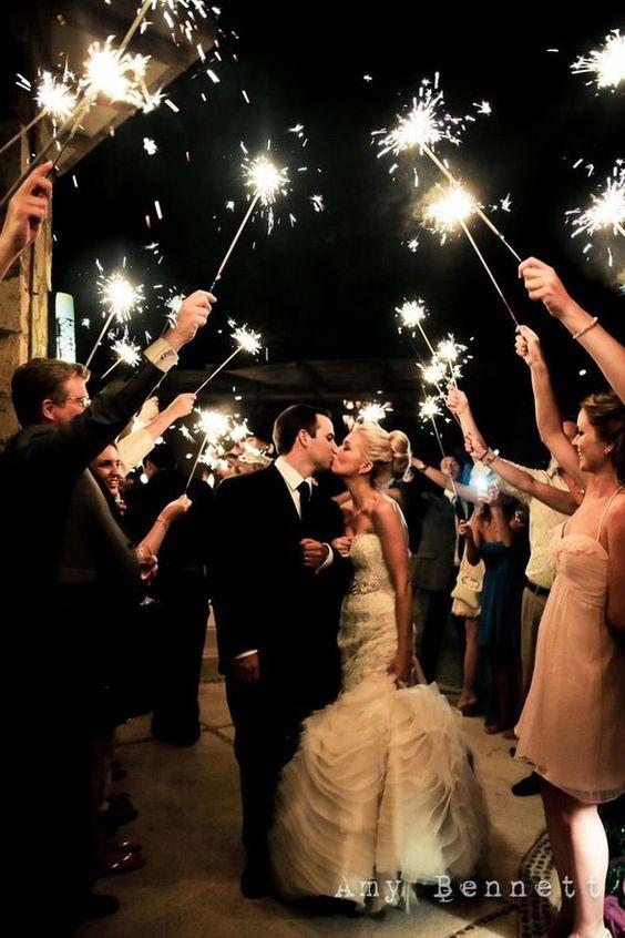 csillagszóró esküvőre