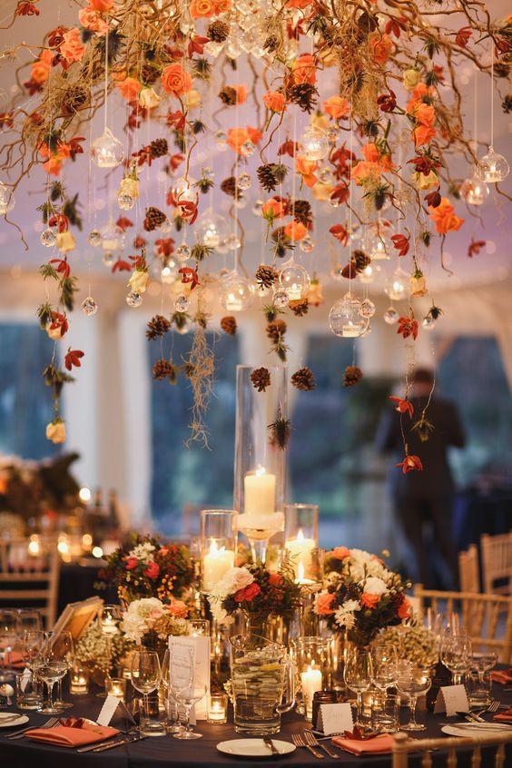 autumn decoration to wedding, őszi-téli esküvői dekoráció