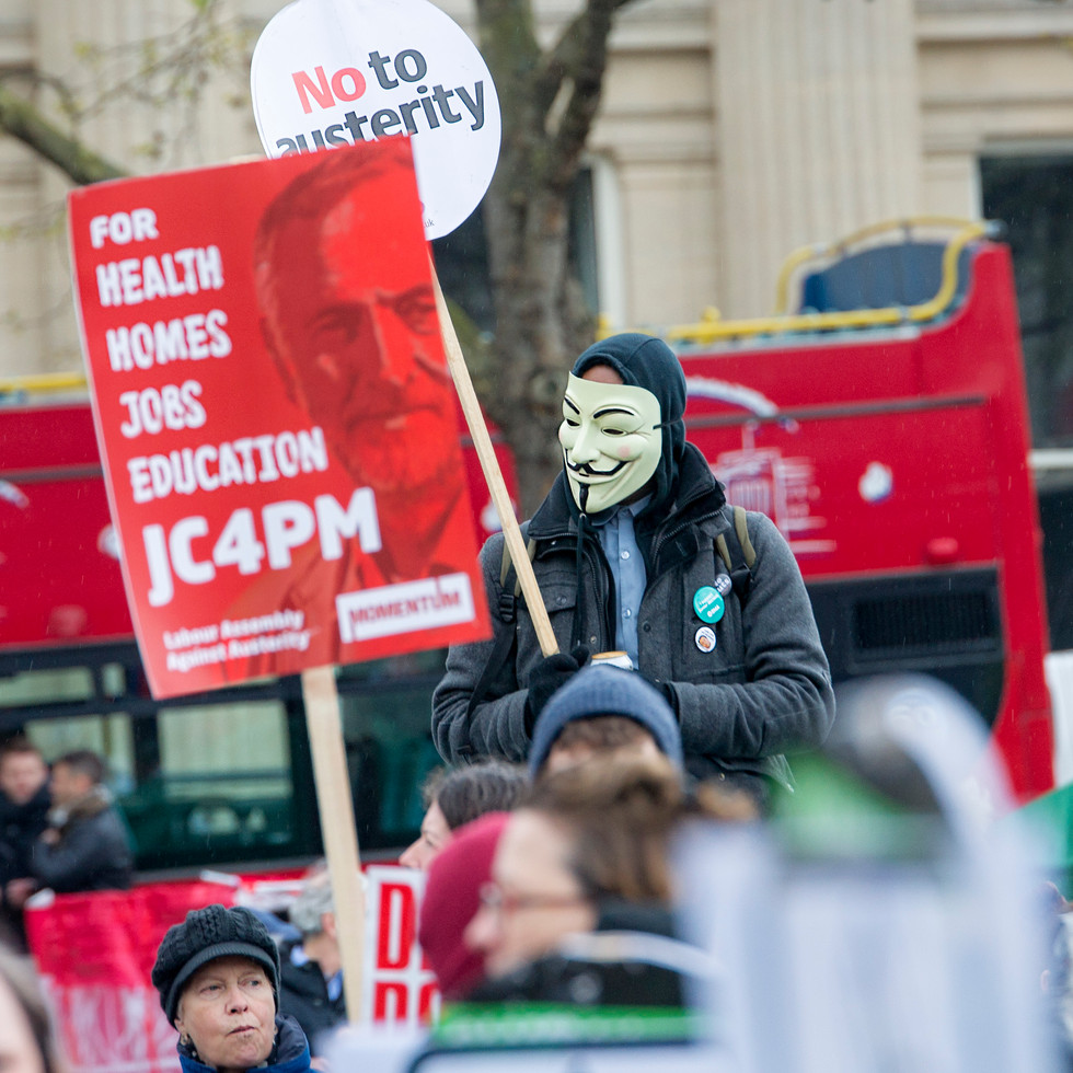 Demonstration against the government of London 2016