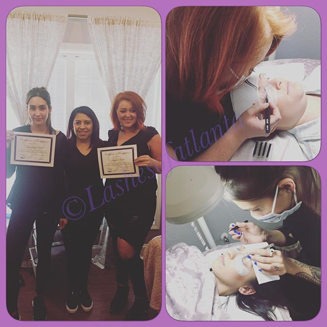 Another successful classic lash training, next class date is March 19th.  Sign up at Lashesofatl