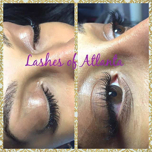 Beautiful lash extensions applied by Porche 😍 Make your appointments today! Click on the link above