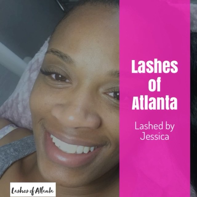 #eyelashextensions by our Lash Technician _Jessica_ our new addition to the Lashes of Atlanta family