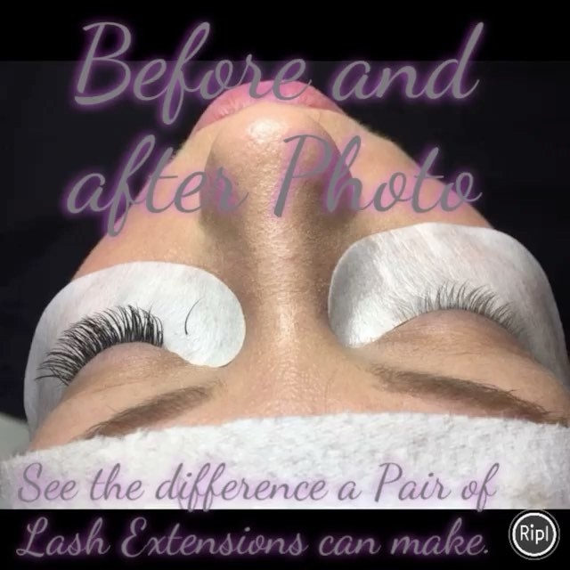 Never had a set of Lash Extensions. come see the difference with us