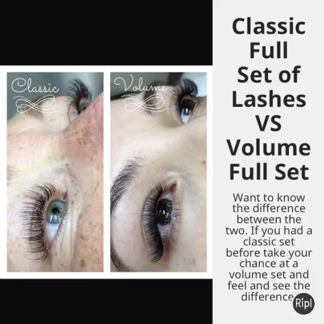 Get a classic full set or a volume full set today with Lashes of Atlanta and see the difference betw