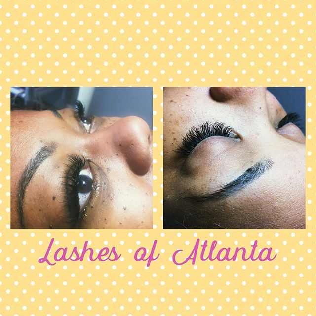 #lashed by Hucky of Lashes of Atlanta, she's been a #lashtech for over 4yrs and her work shows the p