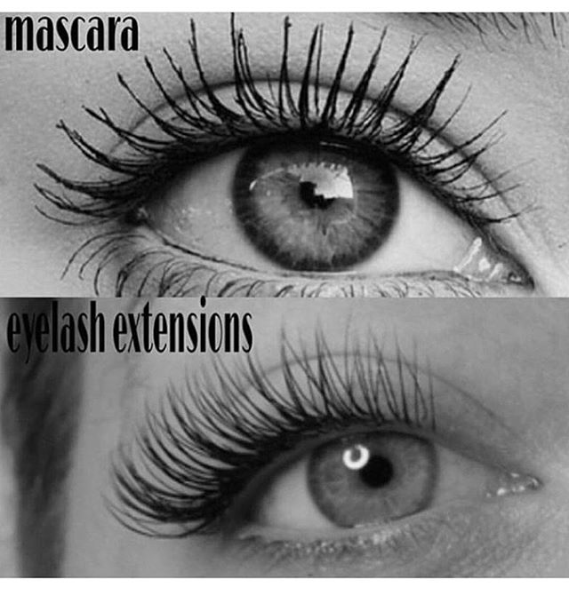 The difference is in this pic, eyelash extensions are a cleaner look, what are you thinking about__