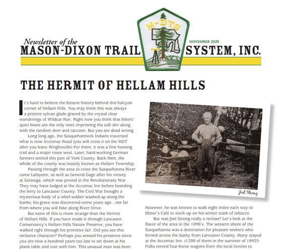 Nov Newsletter w/ 11/8 Hike & Mtg Info