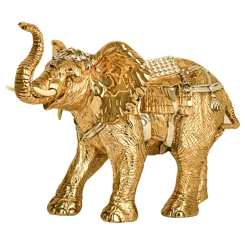Indian Golden Elephant Statue