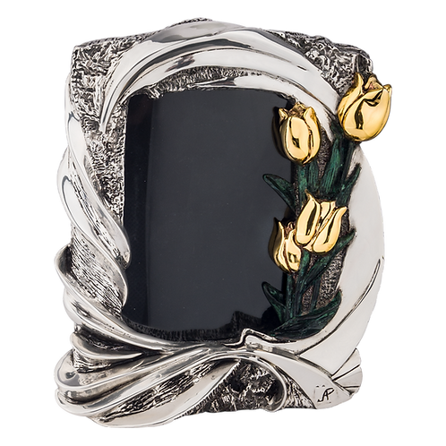 Silver Photo Frame Tulips