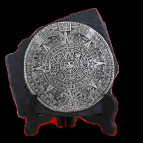 Aztec Calendar Figurine