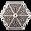 Thumbnail: نقره ای سوز نقره ای شش ضلعی کلاسیک