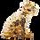 Thumbnail: مجسمه توله پلنگ طلای کنجکاو