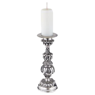 Short Silver Candle Holder