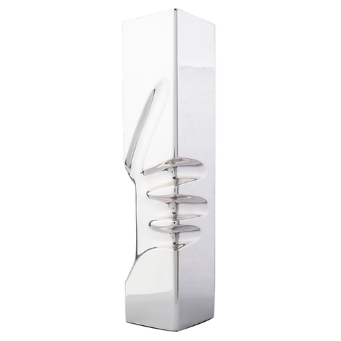 Attached Prism Silver Candle Holder