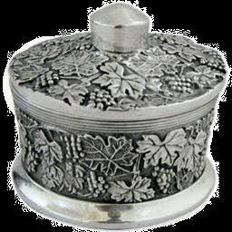 Silver Jewelry Box Leaf Design.