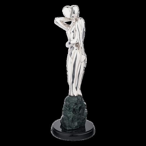 Passion - Silver Couple Statue