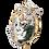 Thumbnail: Silver Swan Mask Sculpture