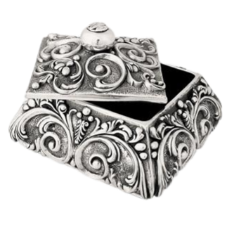 Large Rounded Square Jewelry Box