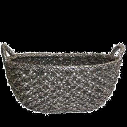 Silver Woven Basket