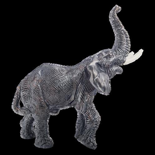 Black Elephant Figurine Trunk Up