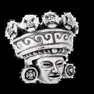 Teotihuacan's King Waves Crown Figurine
