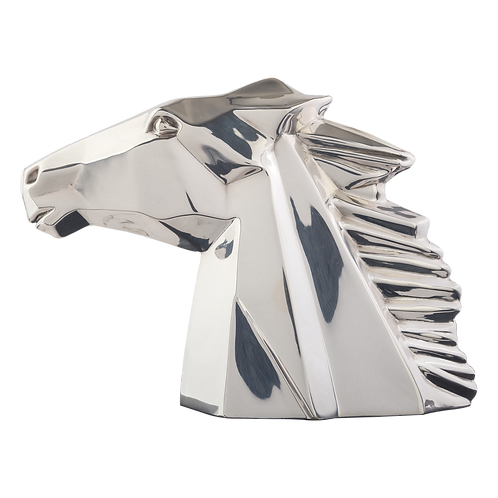 Silver Horse Head Figurine by Pedro Ramírez Vázquez