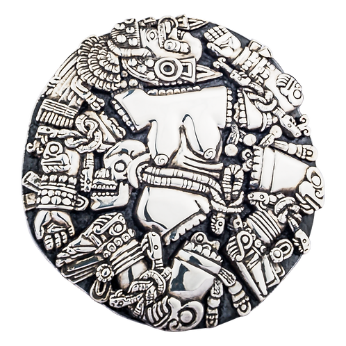 Silver Coyolxauhqui Relief