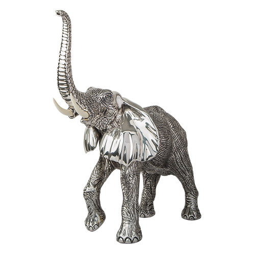 Silver Elephant Statue, The Wild One