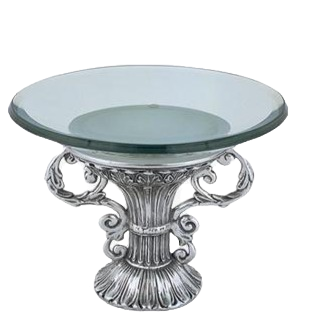 Silver Candy Bowl with glass