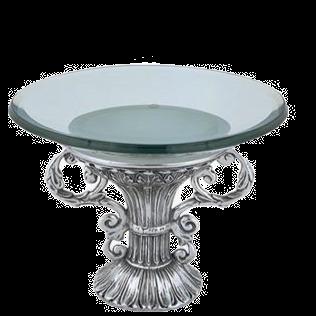آب نبات کاسه نقره ای با لیوان