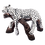 Thumbnail: مجسمه پلنگ نقره ای در حال استراحت