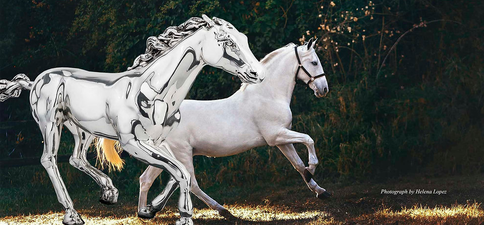 Silver Horse Statue, Horse Gift