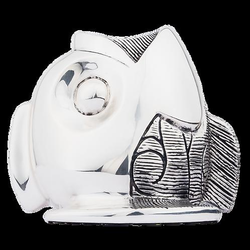 Silver Fish Vessel Vase