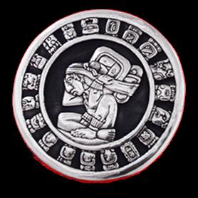 Mayan Calendar Silver Relief