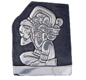 Mayan Commoner Working Silver Relief