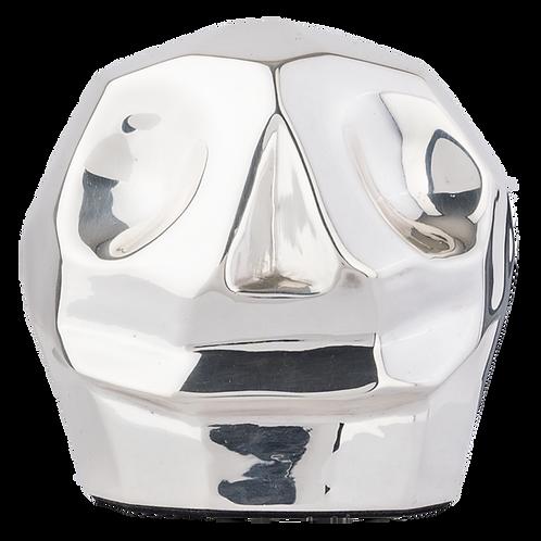 Silver Skull Figure Tzompantli by Pedro Ramírez Vázquez