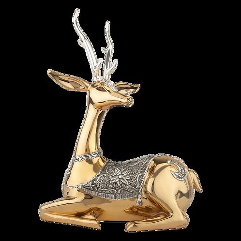 Resting Female Thai Gold Deer Statue