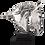 Thumbnail: مجسمه سر اسب نقره ای آرام