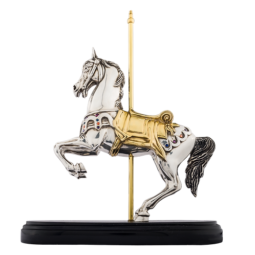 Rearring Carrousel Horse Statue