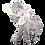 Thumbnail: مجسمه فیل نقره ای