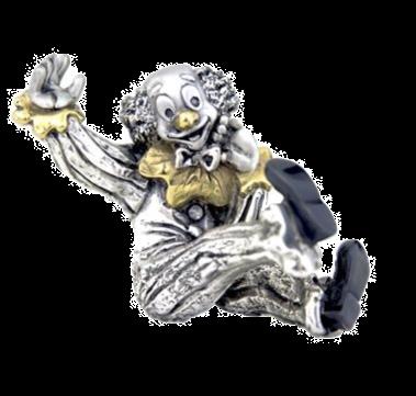 Silver Clown Figurine