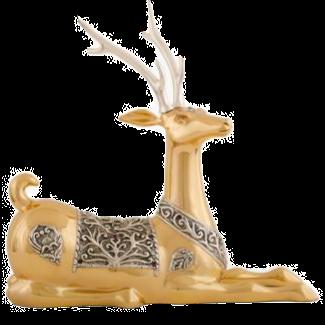 Resting Gold Thai Deer Statue