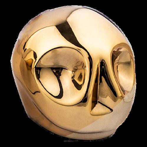 Gold Skull Statuette