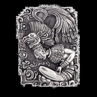 Mayan Priest Quetzalcoatl Head Relief