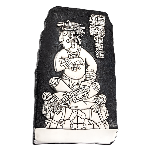 Mayan King Subordination Silver Relief