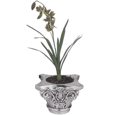 Silver Flower Pot Corinthian Column