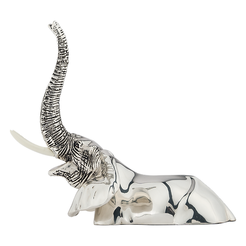 Silver Adult Elephant Statue Submerged