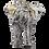 Thumbnail: Silver Elephant Statue Gold Back