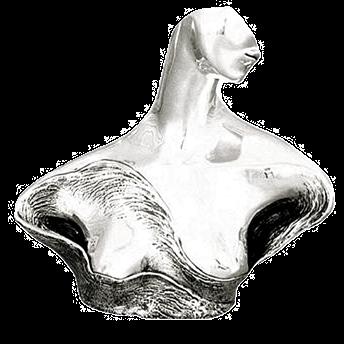 امرأة السلام الفضة تمثال نصفي