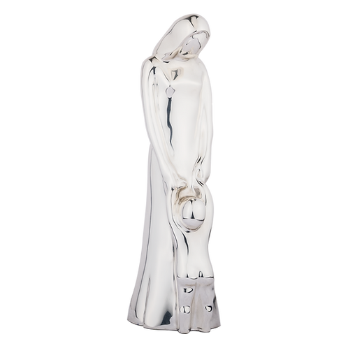 Motherhood Mother & Child Silver Statue